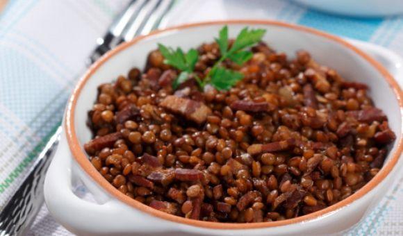 Maple-Espresso Baked Lentils | Grains and Beans | Pinterest