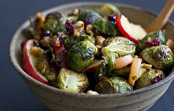 Roasted brussels sprouts and apples. | Recipes | Pinterest