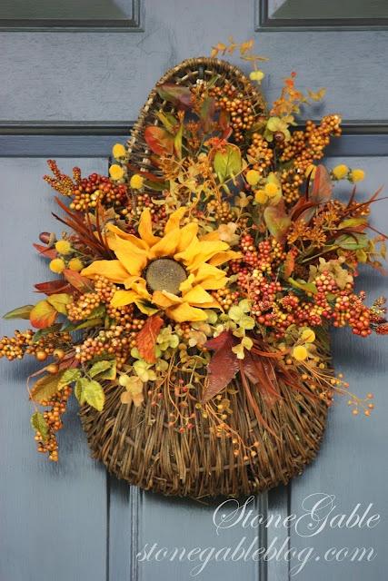 autumn door basket