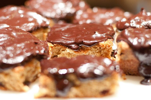 Chocolate Chip Cookie Brownies with Dark Chocolate Ganache - Cooking ...