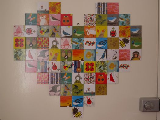 charley harper memory game made into wall art.
