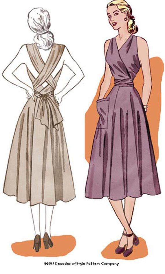 1940s Sundress Repro Pattern 3046 bust by by DecadesPatterns, $20.00