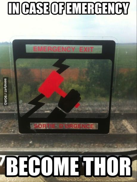 In case of emergency.