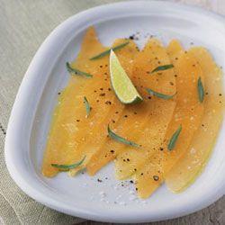 Melon Carpaccio With Lime Recipe — Dishmaps