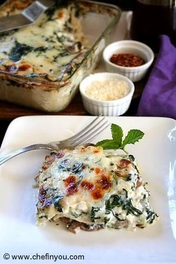 spinach and mushroom lasagna | Veggie tales | Pinterest