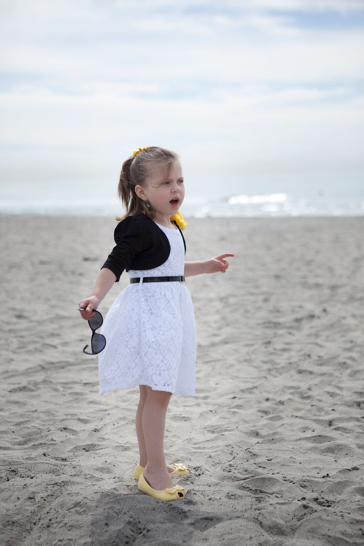 Dress, Bolero, Earrings, Sunglasses: Children's Place. Shoes: Gymboree Flower pin: Claire's Photography: West Ivy Stuidos