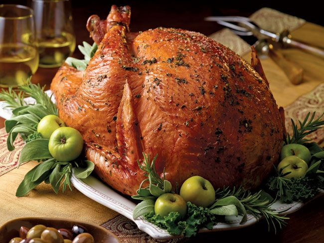 Herb Butter Roasted Turkey. I would brine this beforehand