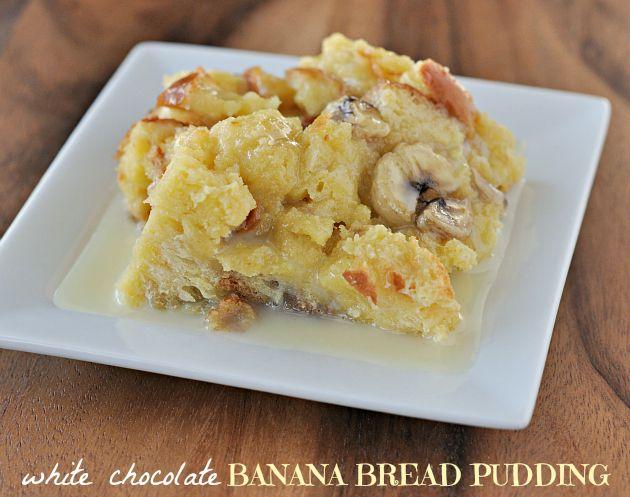 white chocolate banana bread pudding recipe via foodfamilyfinds.com ...