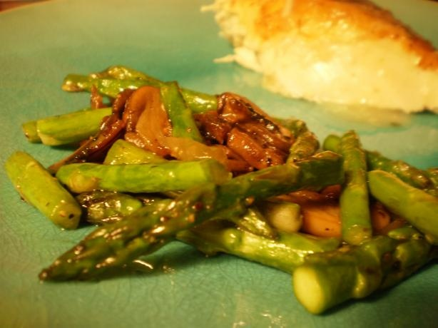Buttery Pan Roasted Mushrooms And Asparagus Recipe - Food.com - 167476