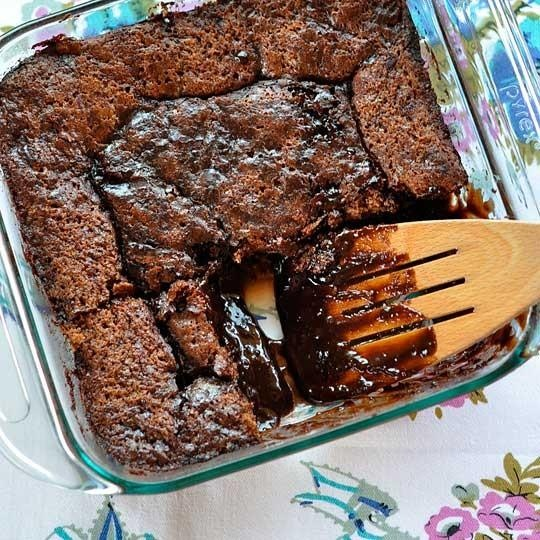 ... gooey godness served at UCLA's dining halls! Warm Fudgy Pudding Cake