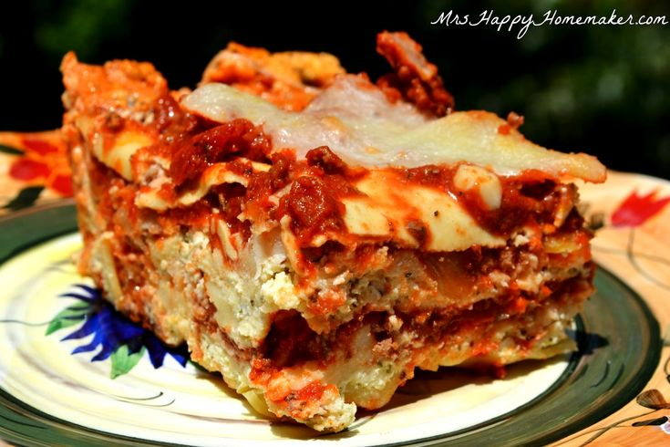 The BEST Lasagna EVER-a friend of mine made this and it really was one ...