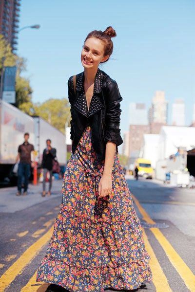 flower print maxi. This fall pair your summer Maxi with a light jacket, leather or denim