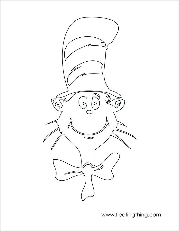 cat in the hat coloring page teaching ideas pinterest