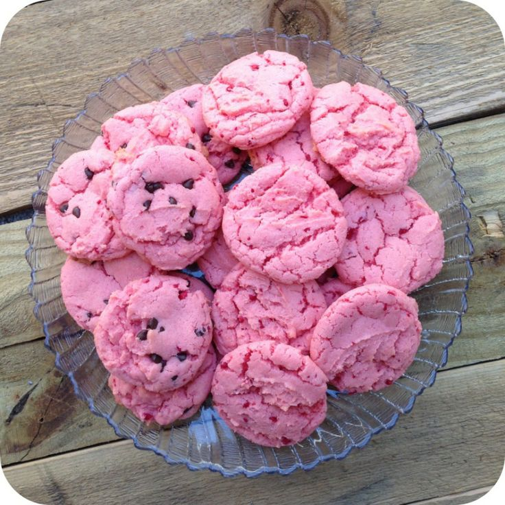 Strawberry cake cookies | Recipes | Pinterest