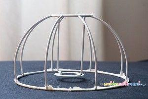 lampadario stoffa : come rinnovare una lampada, come rinnovare un paralume, paralume ...