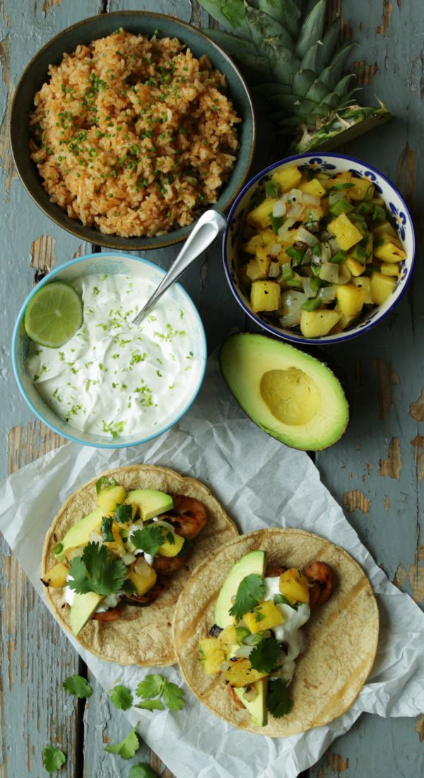 ... pineapple salsa recipe yummly shrimp tacos with melon pineapple salsa