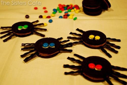 Spooky Spider Cookies. My kids LOVE these.