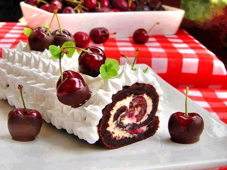 Chocolate Swiss roll   cake roll   Pinterest