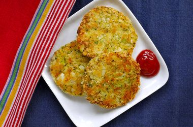 Broccoli & Cheese Patties — Punchfork Adapted: In food processor ...