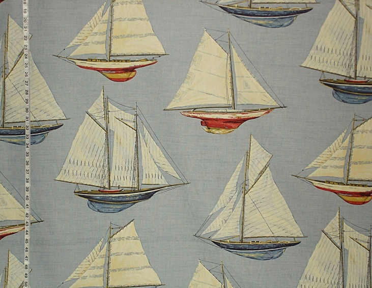 Nautical boat fabric boy 39 s room textures textiles and for Fabric for boys room