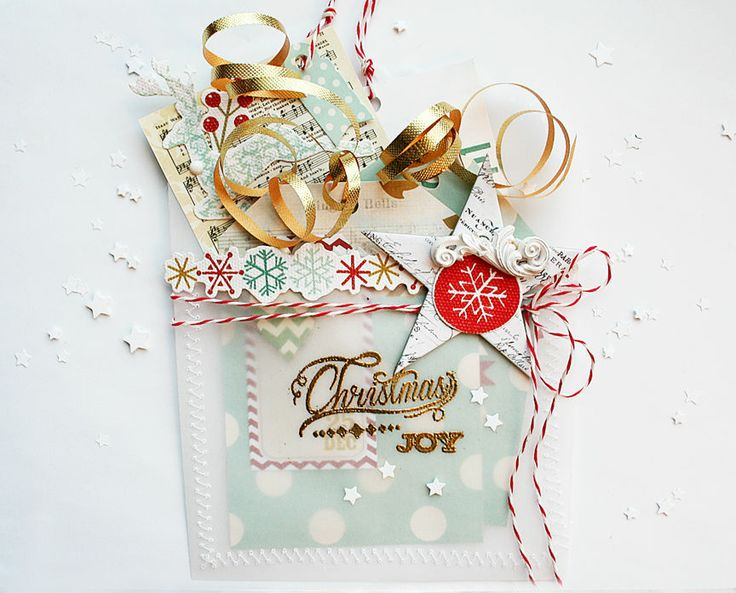 Christmas Joy Vellum Pocket with Gift Tags by Dani