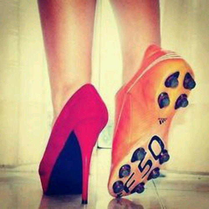 High heel  Pink  Cleat  Soccer  Orange, pink
