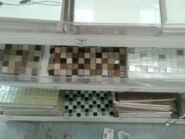 B q mosaic tiles 70s kitchen ideas pinterest for Kitchen tiles ideas b q