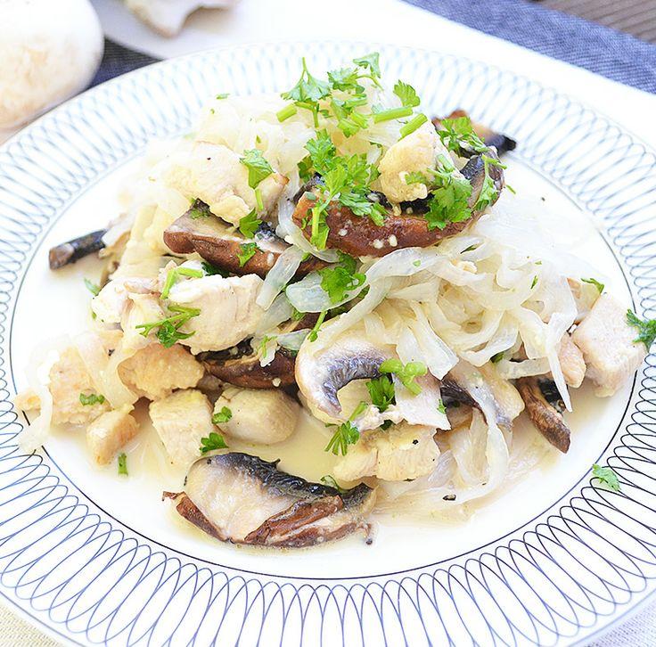 Creamy Mushroom & Chicken Fettuccine