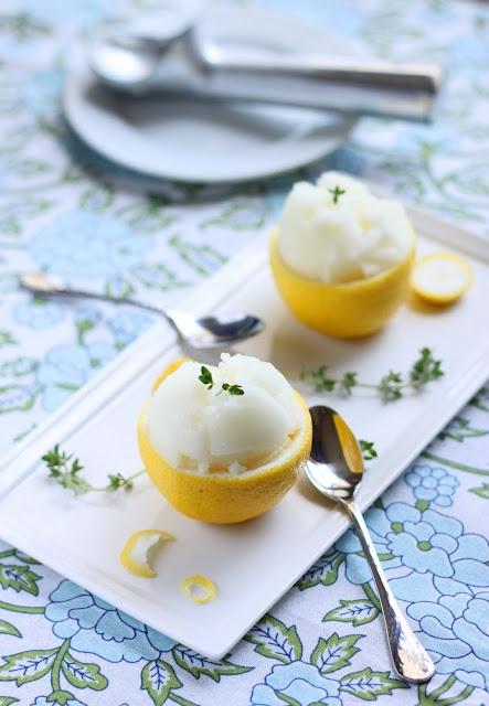 Lemon Thyme Sorbet | Recipes to try | Pinterest