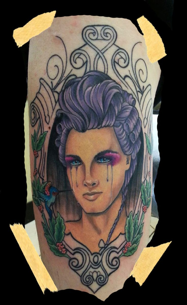 Victorian Man Tattoo Pin by Veronica Dey Ta...