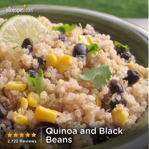"Quinoa and Black Beans ""This is by far the far the best quinoa recipe ..."