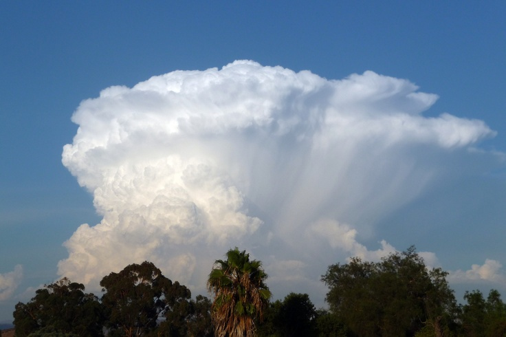 thunder cloud seen from Lakeside, CA
