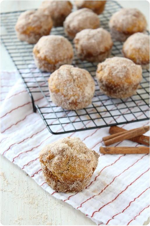 baked pumpkin spice donut muffins | Muffins | Pinterest
