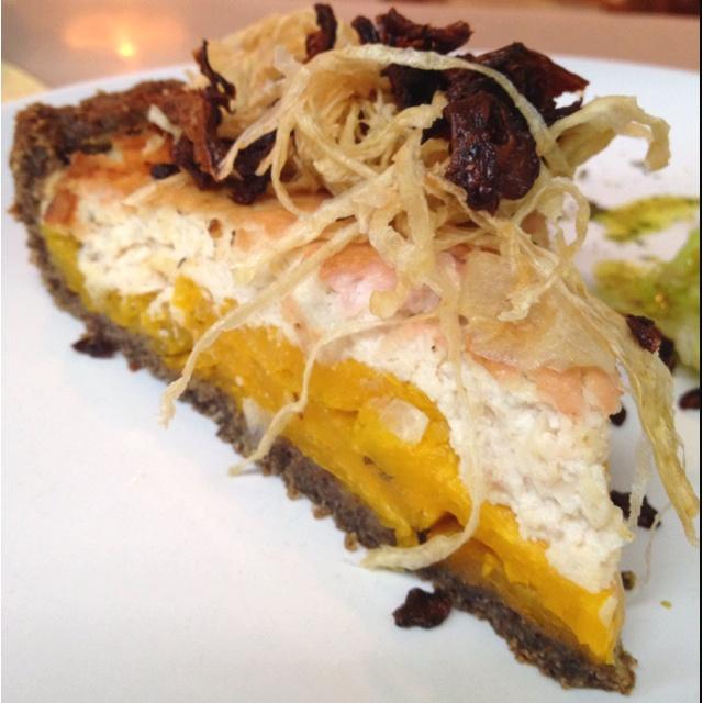 ... Butternut squash with shitake mushroom, sage & caramelized onion