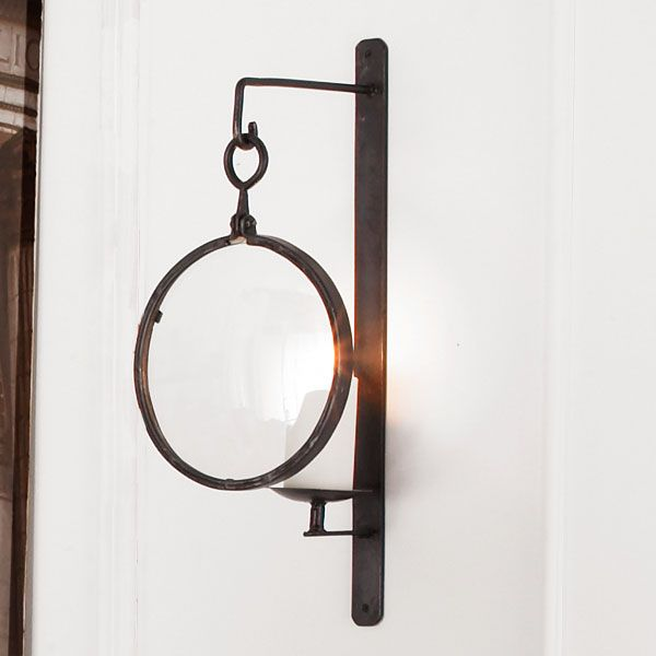 Iron Wall Sconces For Candles : Industrial Iron Wall Sconce