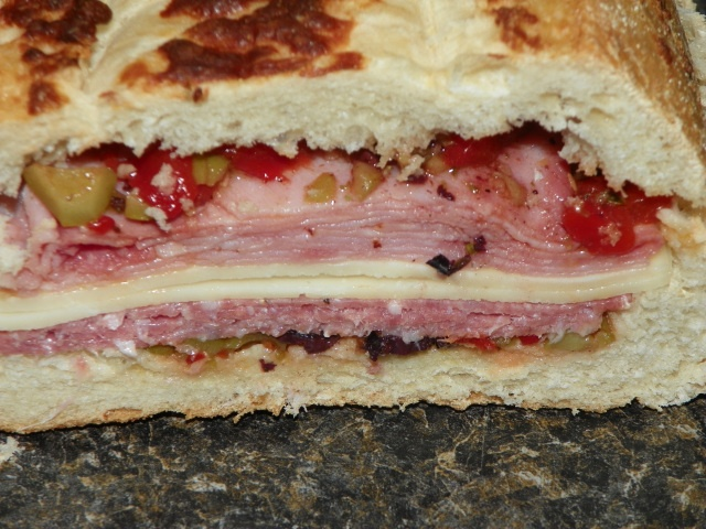 Muffaletta Burgers Recipe — Dishmaps