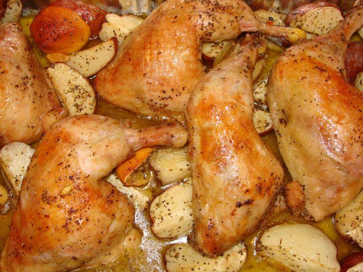 ROASTED CHICKEN & POTATOES - GREEK STYLE , Greek Festival Food ...