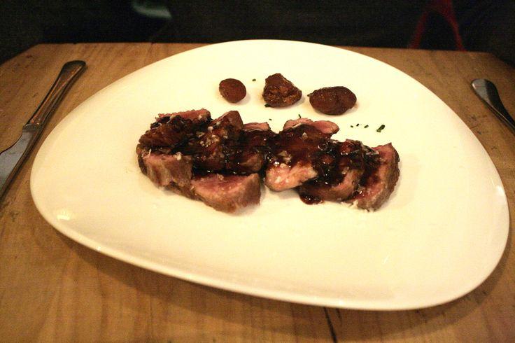 Presa iberica con frutos rojos - Restaurante Mr Frank, Madrid