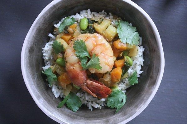 African Peanut Stew with Shrimp and Butternut Squash | KitchenDaily ...
