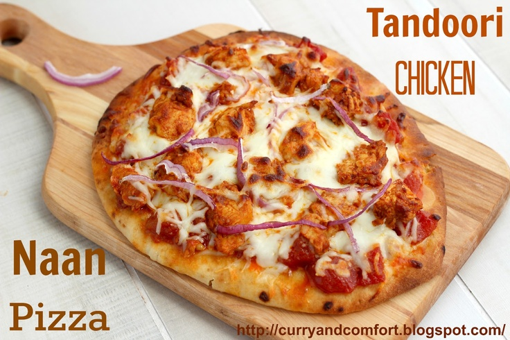 Tandoori Chicken Pizza on Naan - easy to put together for a fun meal!