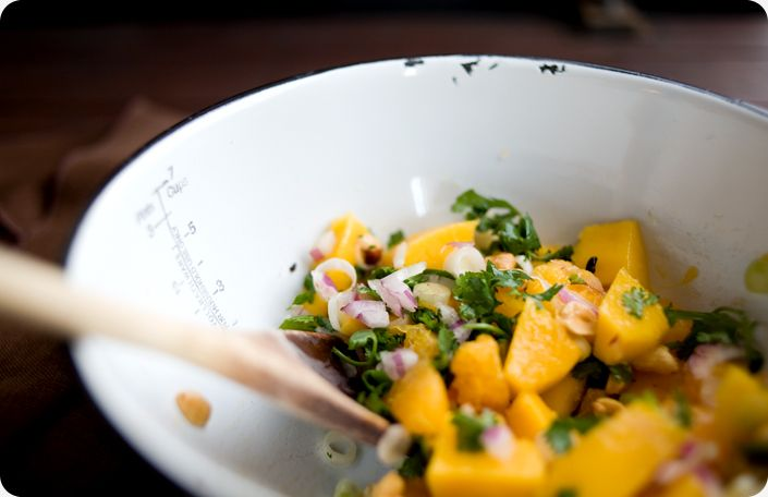 Black rice salad with mango | Tasty Salads and Soups | Pinterest