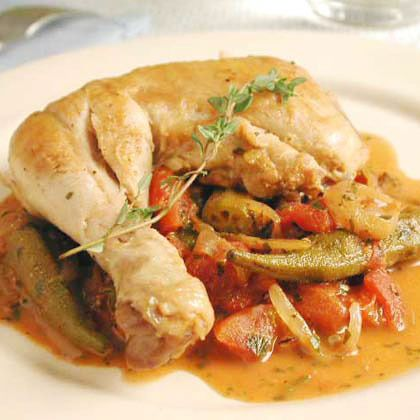Stewed Chicken with Okra and Tomatoes by Cooking Light