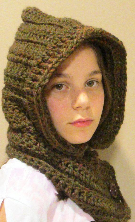Crochet Pattern Hooded Neckwarmer Cowl Scarf Neck Warmer SALE