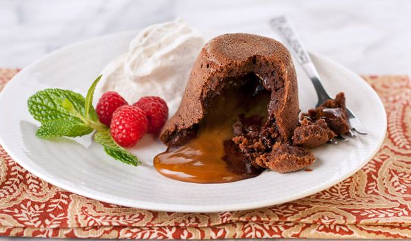 This cake wins hearts, every time. Chocolate Dulce De Leche Lava Cakes ...