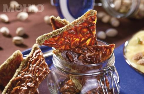 Almonds, honey, pistachio and butter   Inspired by food and wine   Pi ...