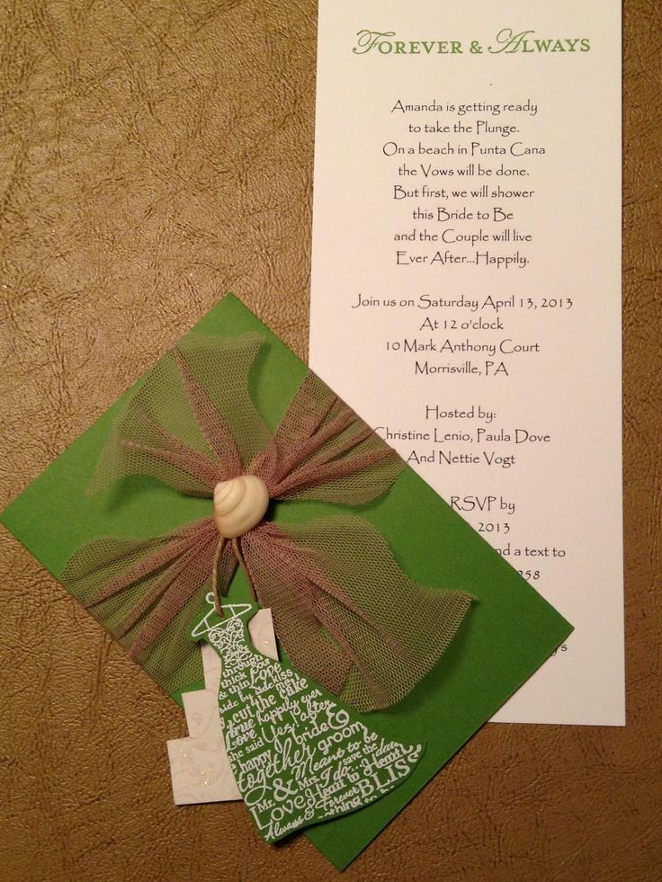 Bridal shower invitation   Stampin' Up   Pinterest