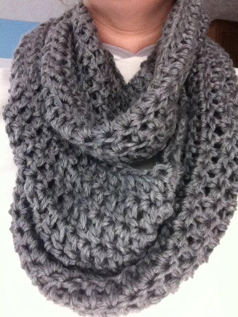 Crochet Infinity Scarf : Womens infinity scarf, crochet scarf, chunky scarf, crocheted infini ...