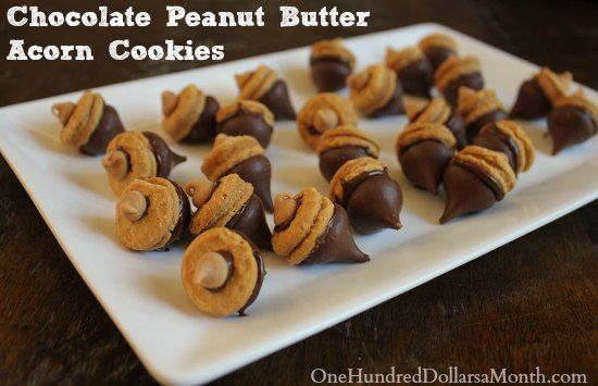 Chocolate Peanut Butter Acorn Cookies | Deserts and other fattening s ...