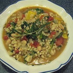 White Bean, Spinach, and Barley Stew Allrecipes.com