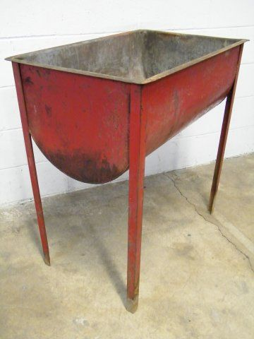 Metal Wash Tub Sink : ... Metal Wash Tub; This wash tub would be a perfect outdoor garden sink